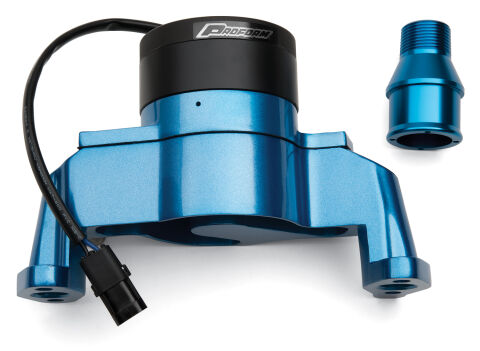 Electric Engine Water Pump; Aluminum; Blue Powder Coat; Fits SB Chevy Engines