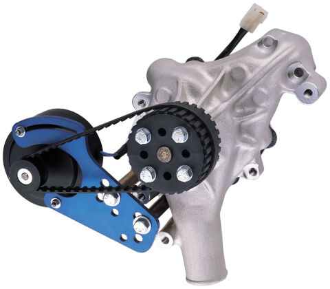 Engine Water Pump Drive Kit; Universal Model; Blue Anodized; 12 Volt