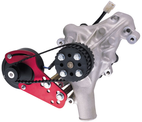 Engine Water Pump Drive Kit; Universal Model; Red Anodized; 12 Volt