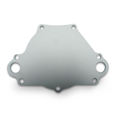 Water Pump Backing Plate; SB Mopar Engines; Billet Aluminum; Natural Finish