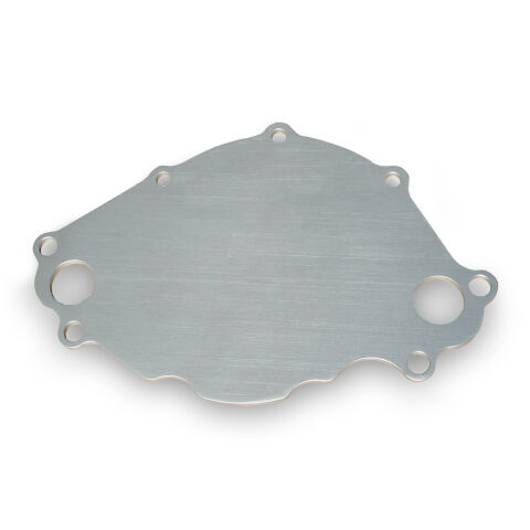 Water Pump Backing Plate; SB Ford Engines; Billet Aluminum; Natural Finish