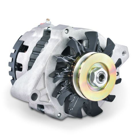 CS130 Alternator; 160 AMP; GM CS130; 1-Wire; Machined Pulley; Satin; 100% New