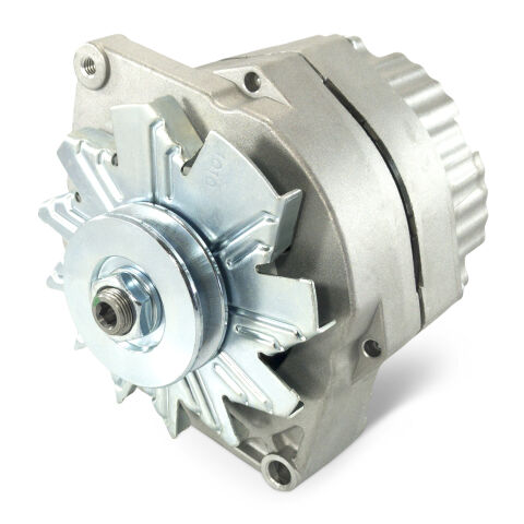 Alternator-100 AMP; GM Style 1-Wire Style; Natural Finish; 100% New