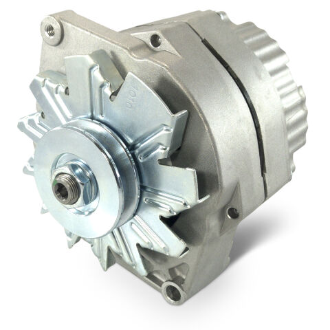 Alternator; GM 73-86 w/ Internal Reg; Machined Pulley; Natural Finish; 100% New