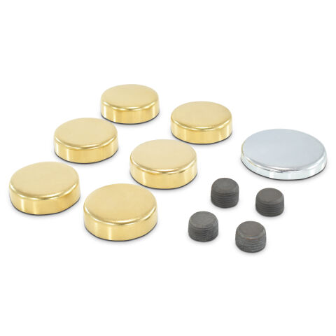 Brass Freeze Plug Kit; For Chrysler 383-440 Engines; All Sizes Needed Included