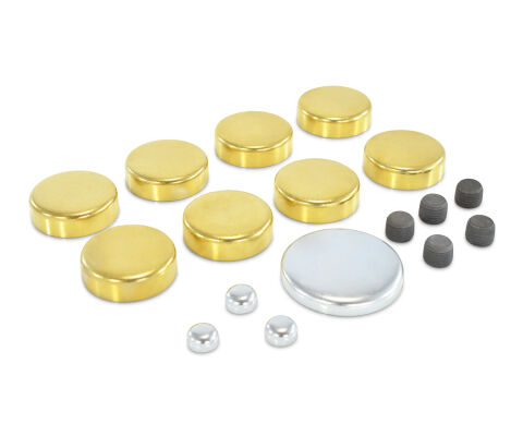 Brass Freeze Plug Kit; For Oldsmobile V8 Engines; All Sizes Needed Included