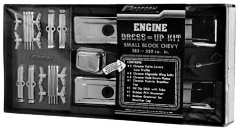 Engine Dress-Up Kit; Chrome without Logos; Fits SB Block Chevy Engines