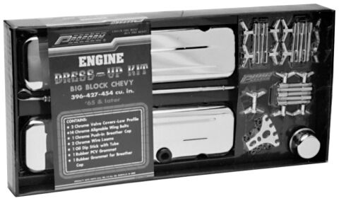 Engine Dress-Up Kit; Chrome; Fits Big Block Chevy Engines
