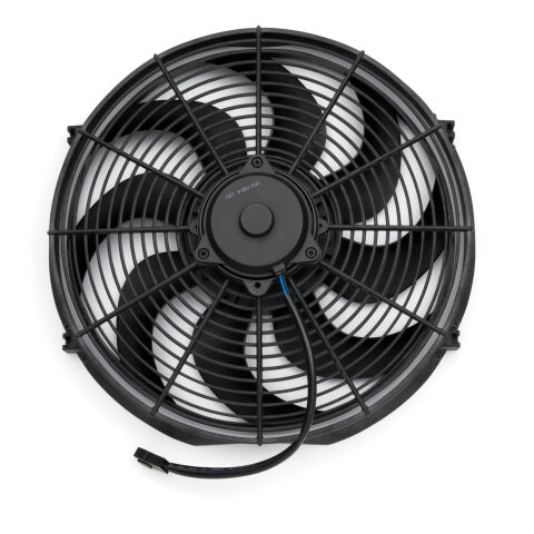 Electric Radiator Fan; Universal High Perf. S-Blade Model; 16 Inch; 2100CFM