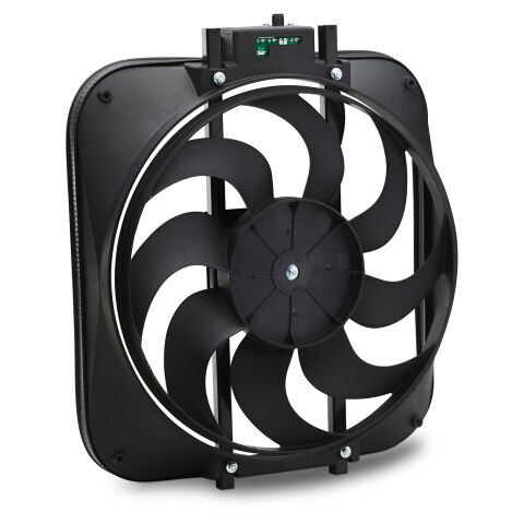 S-Blade Radiator Fan; High Performance Model with Thermostat; 15 In; 2800CFM
