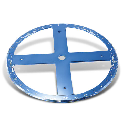Camshaft Degree Wheel; Pro Model; 16 Inch Diameter; Blue Anodized; White Numbers