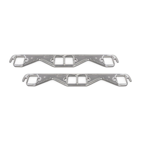 Engine Header Gasket Set; Small Block Chevy; Square Port; Aluminum Material;Pair