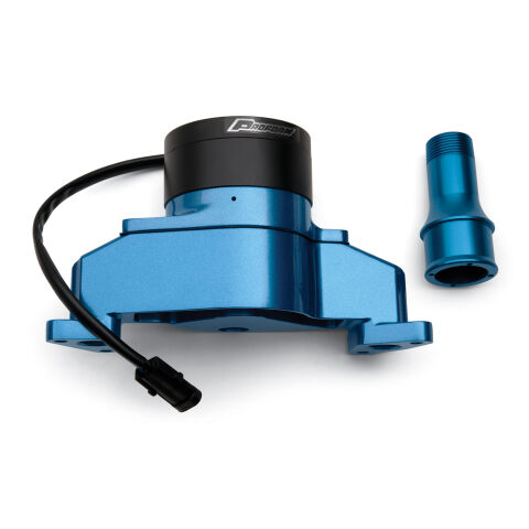Electric Engine Water Pump; Aluminum; Blue Powder Coat; Fits SB Ford Engines