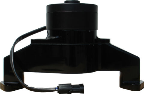 Electric Engine Water Pump; Aluminum; Black Powder Coat; Fits BB Chevy Engines